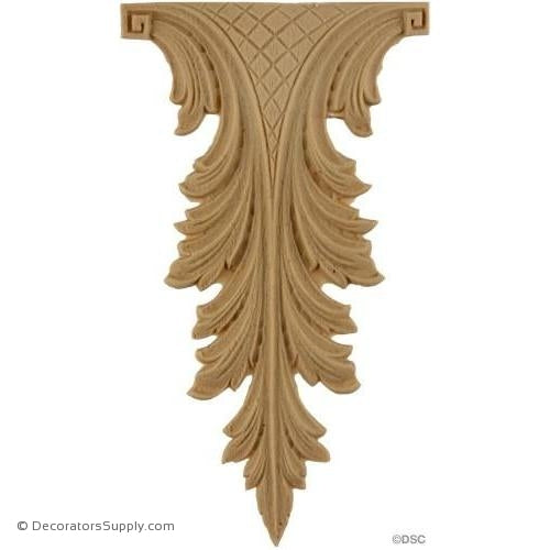 Acanthus 5 High 2 Wide-ornaments-furniture-woodwork-Decorators Supply