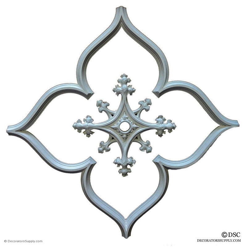 Open Gothic Tracery with Center Medallion-geometric-ceiling-designs-Decorators Supply