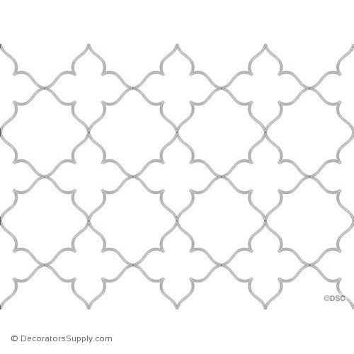 "43"" Open Tracery Pattern Approx 14' x 11' 12 pcs - 2964-Hand-cast-all-natural-Decorators Supply"