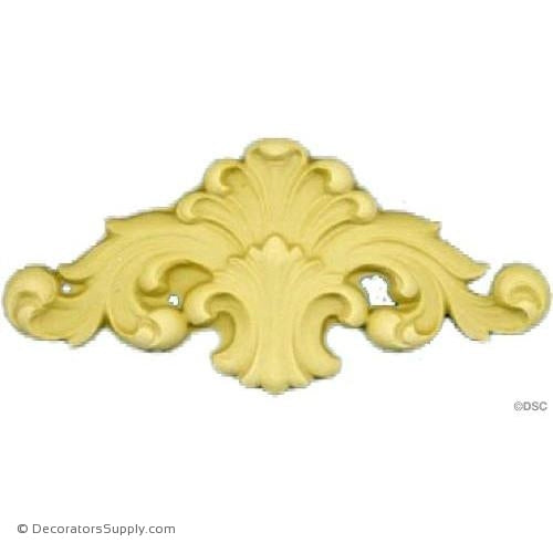 Shell with Scrolls - 3 1/2 in. width-ornaments-for-woodwork-furniture-Decorators Supply