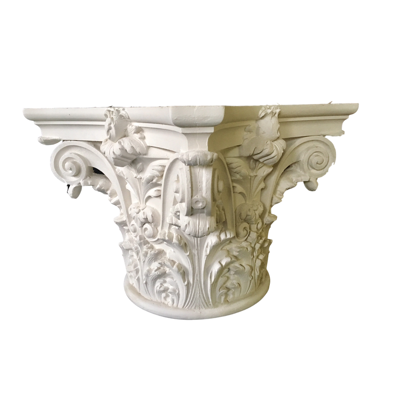Plaster Capital [Round] - Italian Renaissance Venice - 5 Sizes