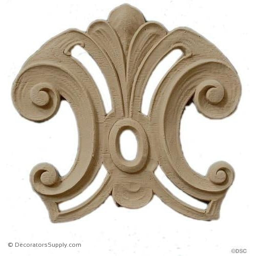 Specialty 3 1/4 High 3 3/4 Wide-ornaments-for-woodwork-furniture-Decorators Supply
