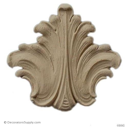 Acanthus Leaf - 2 1/2 High 2 1/2 Wide-ornaments-furniture-woodwork-Decorators Supply
