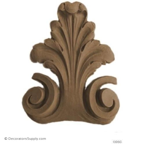 Acanthus Leaf - 3 5/8 High 3 Wide-ornaments-furniture-woodwork-Decorators Supply