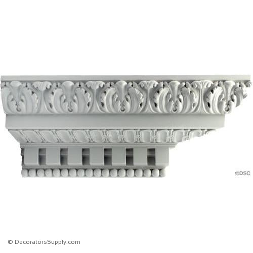 "Plaster Crown - French Ren - 6 1/2"" Proj x 6"" Drop P43-Decorators Supply"
