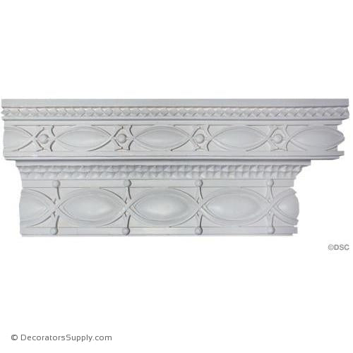 "Plaster Crown - Sullivanesque - 4 3/4""Proj x 11 1/2""Drop-Decorators Supply"