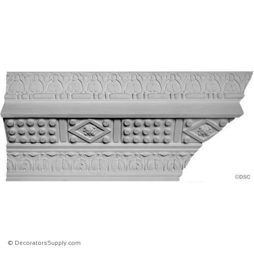 "Plaster Crown - Italian Ren 10"" Proj x 8 3/4"" Drop-Decorators Supply"