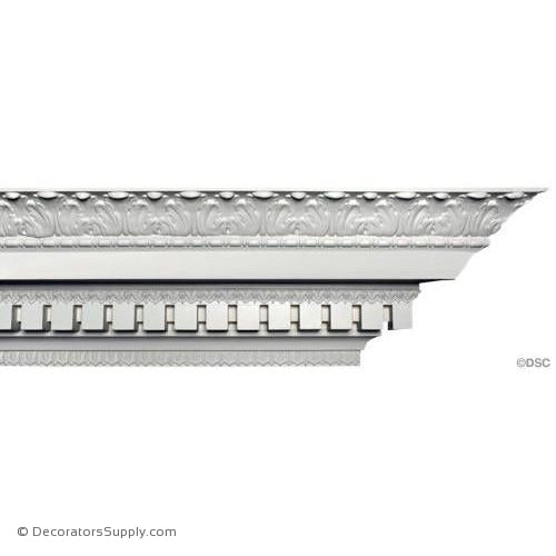 Plaster Crown Acanthus Dentil 8 1/2