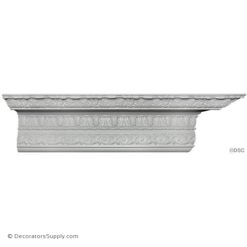 "Plaster Crown - Renaissance - 7 1/4""Proj x 7 1/2""Drop-Decorators Supply"
