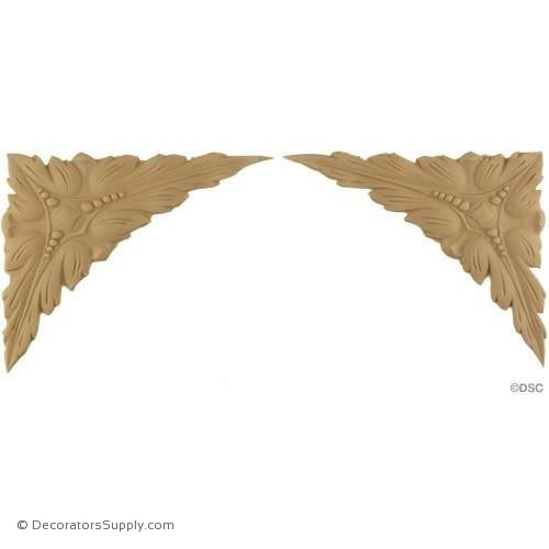 "Spandrels- Each Side 6"" Wide x 5"" High-appliques-for-woodwork-furniture-Decorators Supply"