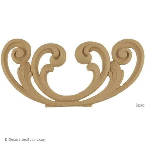 Horizontal Design 4 High 9 Wide-ornaments-for-woodwork-furniture-Decorators Supply