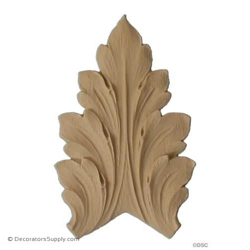 Acanthus 2 3/4 High 2 Wide-ornaments-furniture-woodwork-Decorators Supply