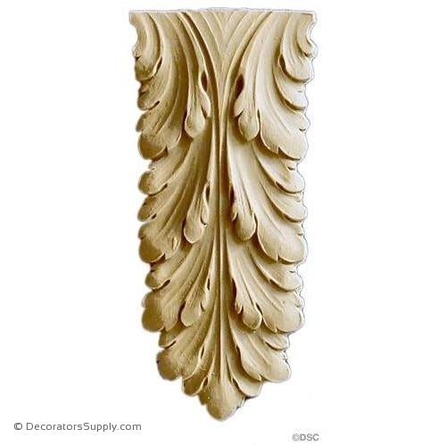 Acanthus 5 High 2 1/4 Wide-ornaments-furniture-woodwork-Decorators Supply