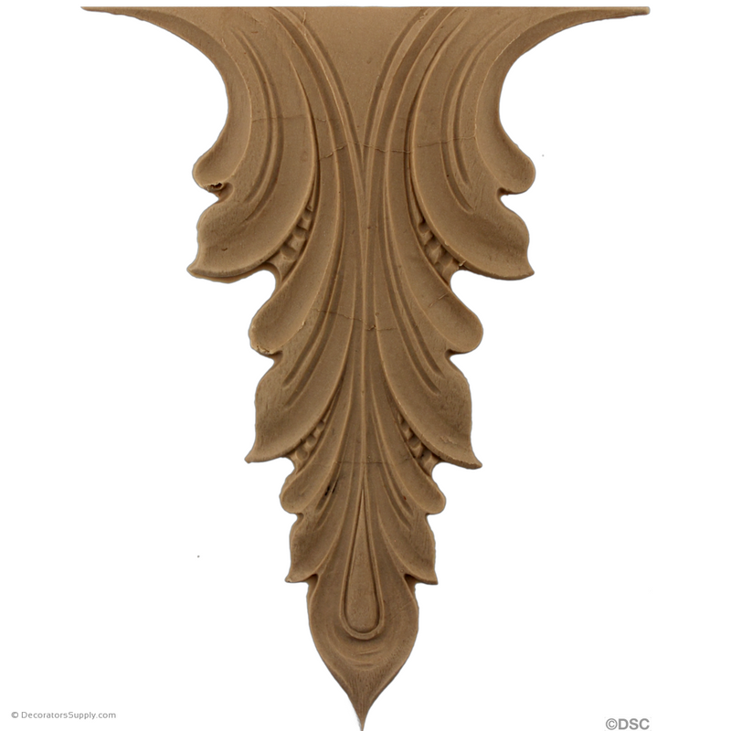 Acanthus 7 1/2 High 5 1/4 Wide-ornaments-furniture-woodwork-Decorators Supply