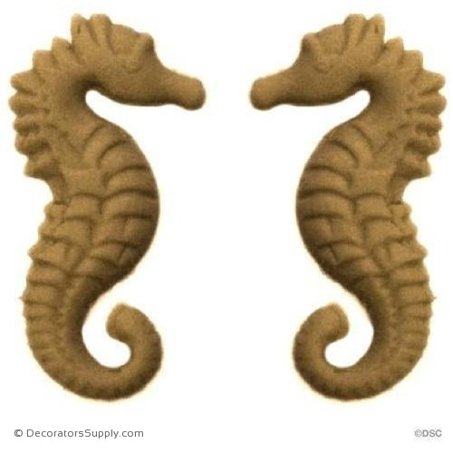"Seahorse - Each 1"" High x 9/16"" Wide-Decorators Supply"