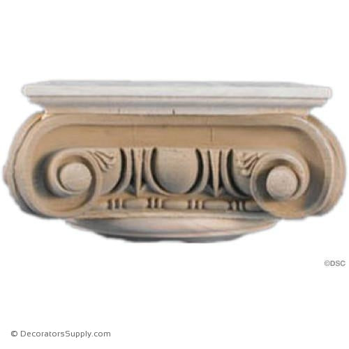 Stain Grade Wood Capital [Round] - Roman Angular Ionic Naples-hand-built-Decorators Supply