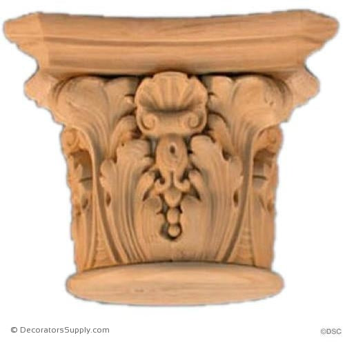 Stain Grade Wood Capital [Round] - Modern Renaissance Verona-hand-built-Decorators Supply