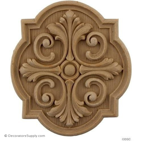 Rosette - 5 High 4 1/2 Wide-ornaments-for-woodwork-furniture-Decorators Supply