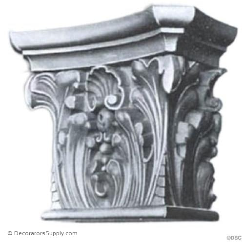 Stain Grade Wood Pilaster Capital [Half Square] - Modern Renaissance Verona-Decorators Supply