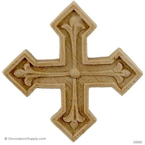 Cross - 2 High 2 Wide-ornaments-for-woodwork-furniture-Decorators Supply