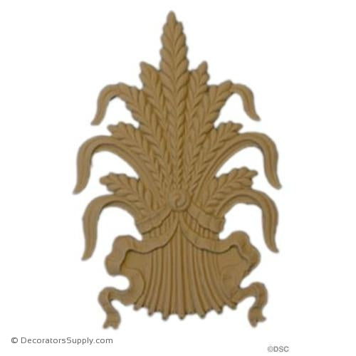 Rosette Square - Wheat-ornaments-for-woodwork-furniture-Decorators Supply