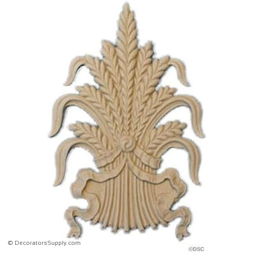 Wheat - 4 Wide x 6 High-ornaments-for-woodwork-furniture-Decorators Supply