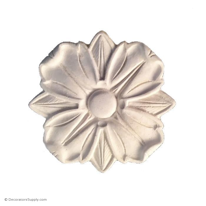 "Plaster Rosette-Roman- 4"" Diameter X 1/2"" Relief-ceiling-ornament-Decorators Supply"