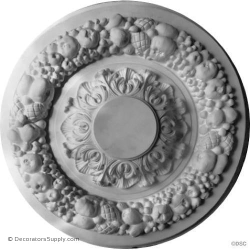 "Plaster Medallion-French-38"" Diameter X 8"" Relief-ceiling-ornament-Decorators Supply"
