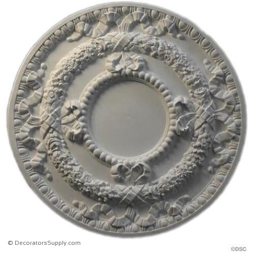 "Plaster Medallion-French-30 1/2"" Diameter X 1 1/4"" Relief-ceiling-ornament-Decorators Supply"