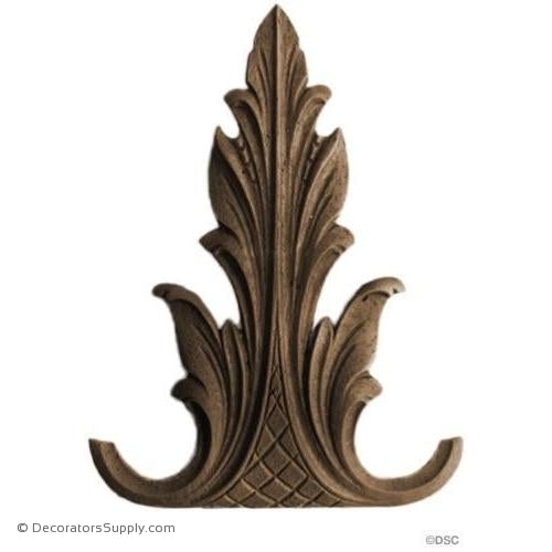 Acanthus 4 3/4 High 3 1/2 Wide-ornaments-furniture-woodwork-Decorators Supply