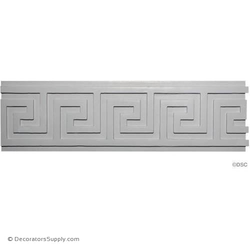 "Plaster Greek Key Frieze Moulding  9"" x 7/8"" Projection - Repeat 6-5/8"""