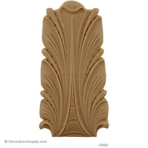 Acanthus 4 1/2 High 2 1/4 Wide-ornaments-furniture-woodwork-Decorators Supply