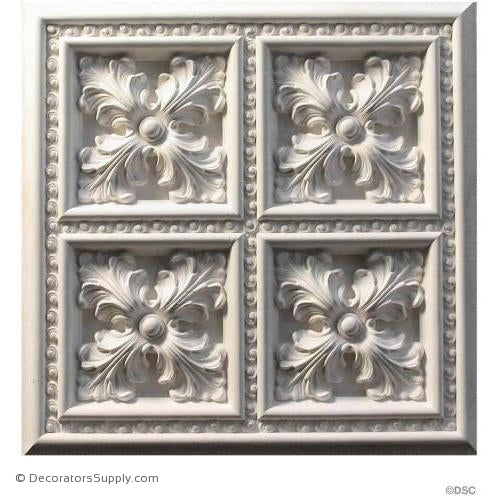 Plaster Panel or Vented Grille Italian-hand-cast-ceiling-Decorators Supply