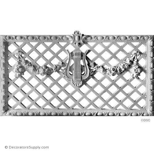 Plaster Medallion or Vented Grille French Renaissance