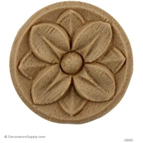 Rosette - Circle 1 1/4 Diameter-woodwork-furniture-ornaments-Decorators Supply