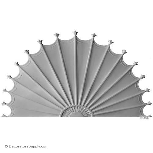 "Plaster Medallion - Adams - 68"" x 51 1/4"" x 1/2"" Relief-ceiling-ornament-Decorators Supply"