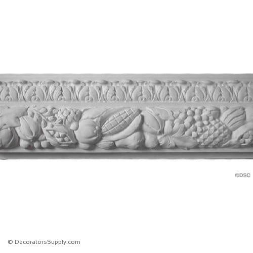 "Plaster Frieze Molding Fruit 8"" W x 2"" R"