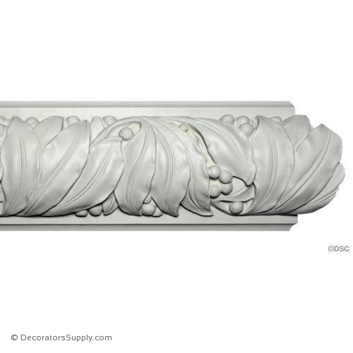 "Plaster Crown - Art Nouveau - 3""Relief x 9""Drop-Decorators Supply"