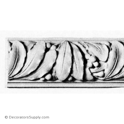 "Plaster Crown - Art Nouveau - 3""Relief x 6""Drop-Decorators Supply"