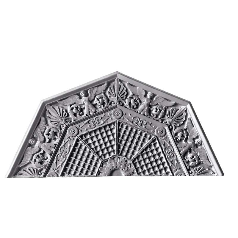 "59"" Diameter Plaster Medallion or Vented Grille Empire x 1-3/4"" Relief In 2 Halves"