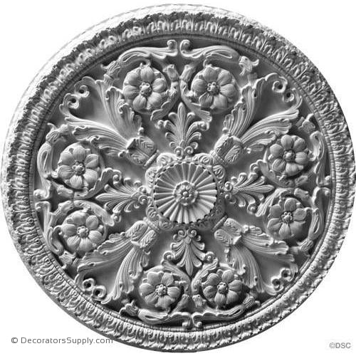 Plaster Medallion or Vented Grille Empire-ceiling-ornament-Decorators Supply