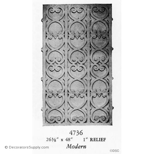 Plaster Panel or Vented Grille Art Deco