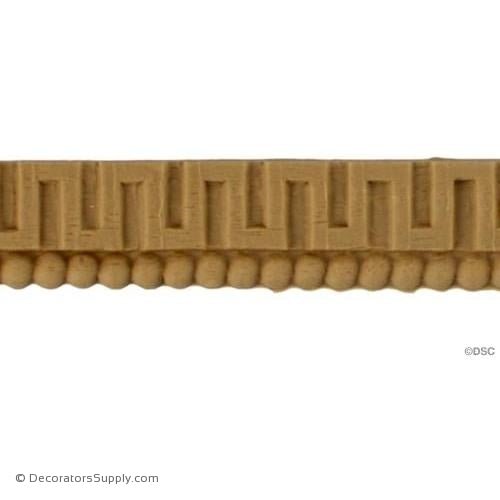 Greek Key 3/4 High 0.125 Relief-moulding-for-woodwork-furniture-Decorators Supply