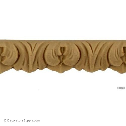 Lambs Tongue 1/2 High 3/16 Relief-woodwork-furniture-lineal-ornament-Decorators Supply