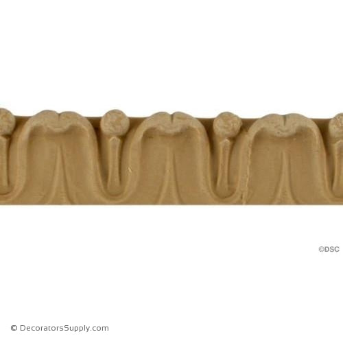 Lambs Tongue 7/8 High 0.75 Relief-woodwork-furniture-lineal-ornament-Decorators Supply