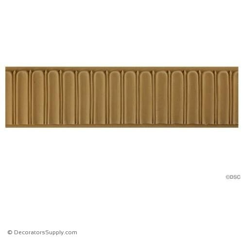 "Fluted 2 5/8 High 5/16"" Relief-moulding-for-furniture-woodwork-Decorators Supply"