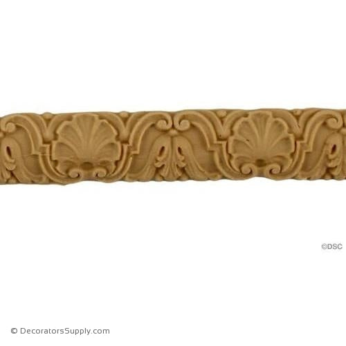 Floral 5/8 High 0.1875 Relief-moulding-for-furniture-woodwork-Decorators Supply