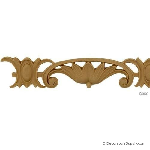 Floral 1 1/2 High 0.1875 Relief-moulding-for-furniture-woodwork-Decorators Supply