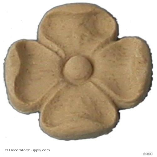 Rosette - Square-Roman - 1 1/8Diameter - 3/16Relief-ornaments-for-woodwork-furniture-Decorators Supply