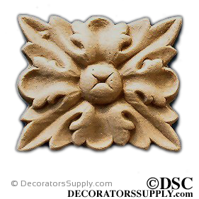 Rosette - Rectangular 1 5/8 High 1 3/8 Wide-ornaments-for-woodwork-furniture-Decorators Supply